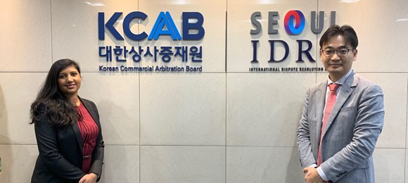 The Head of MARC meets the Director of the Korean Commercial Arbitration Board (KCAB) International