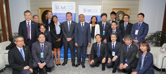 Meeting with a Japanese delegation at the MCCI
