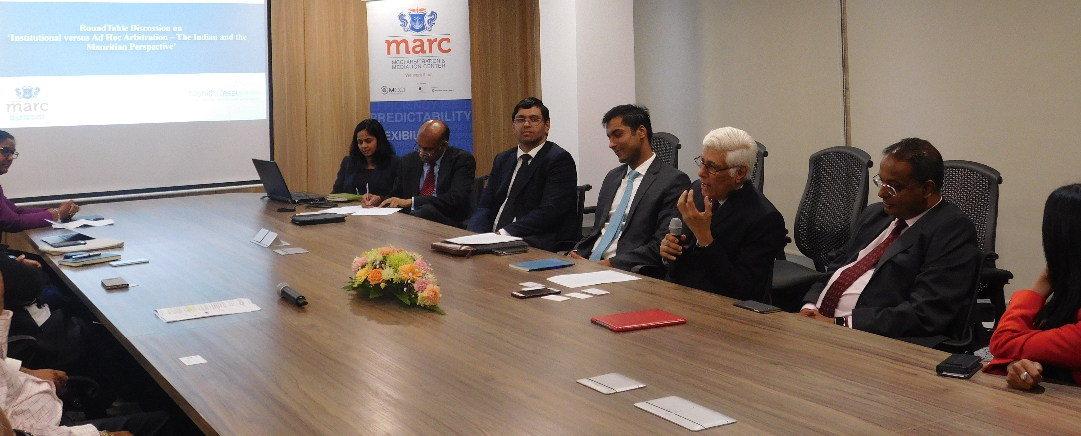 RoundTable on 'Institutional versus Ad Hoc Arbitration: The Indian and The Mauritian Perspective'